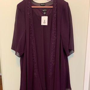 Maggie Barnes Eggplant Maxi Elegant Evening Dress